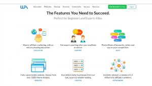 Wealthy Affiliate Review screenshot of the features you need to succeed.