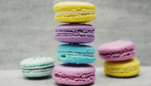 A photo of macarons from Unsplash: A free stock photo site.