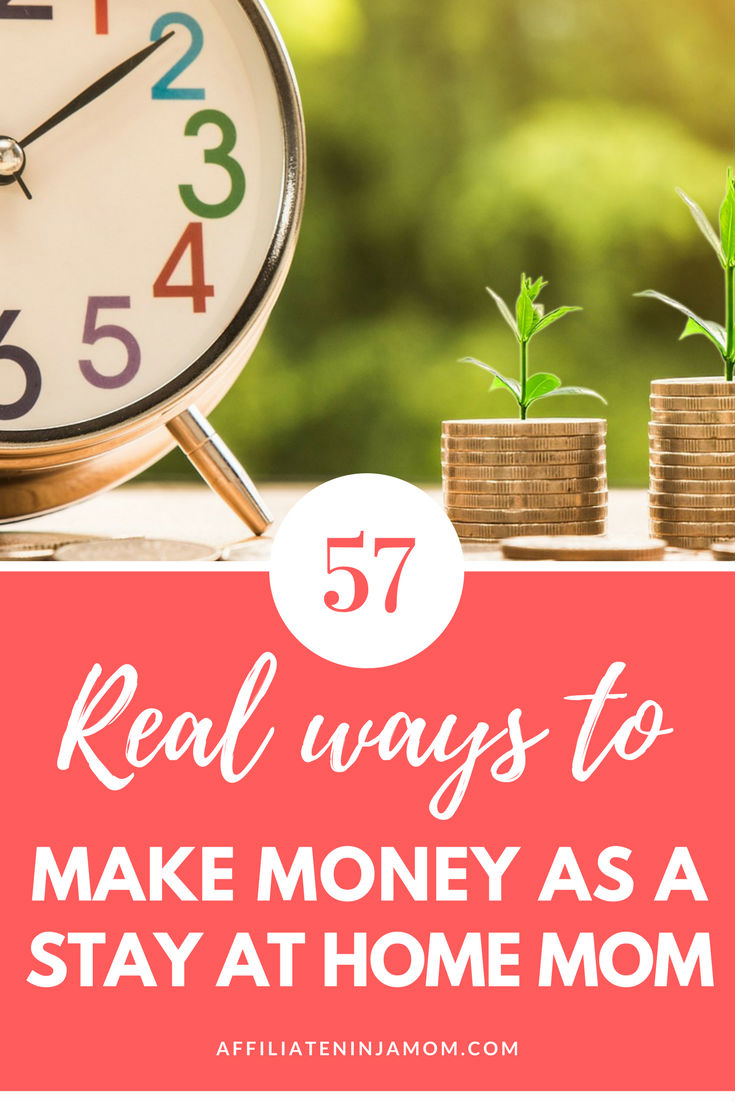Want to know how to make money as a stay at home mom? These 57 extra ways to make money online are all actionable side hustles for moms!